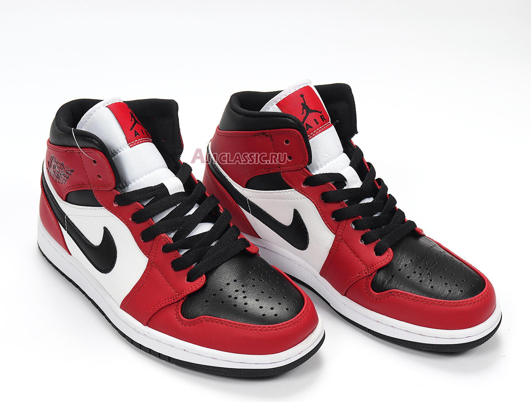 "Air Jordan 1 Mid ""Chicago Black Toe"" 554724-069"