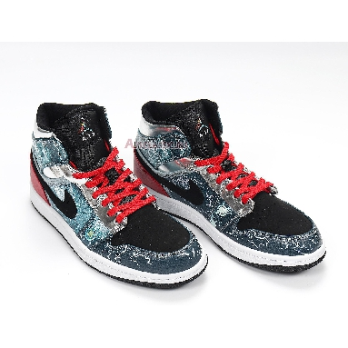 Air Jordan 1 Mid Marvel Thor 556297-023 Blue/Red/Silver/Black/White Sneakers