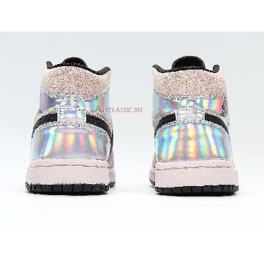 Air Jordan 1 Mid Iridescent BQ6472-602 Barely Rose/Black/Multi Sneakers