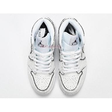 Air Jordan 1 Mid SE Iridescent Trim CK6587-100 White/Black Sneakers