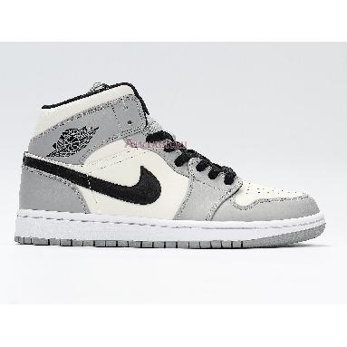 Air Jordan 1 Mid Smoke Grey 554724-092 Light Smoke Grey/Black/White Sneakers