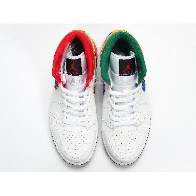 Air Jordan 1 Mid White Court Purple Teal 554725-128 White/Court Purple/Spirit Teal Sneakers