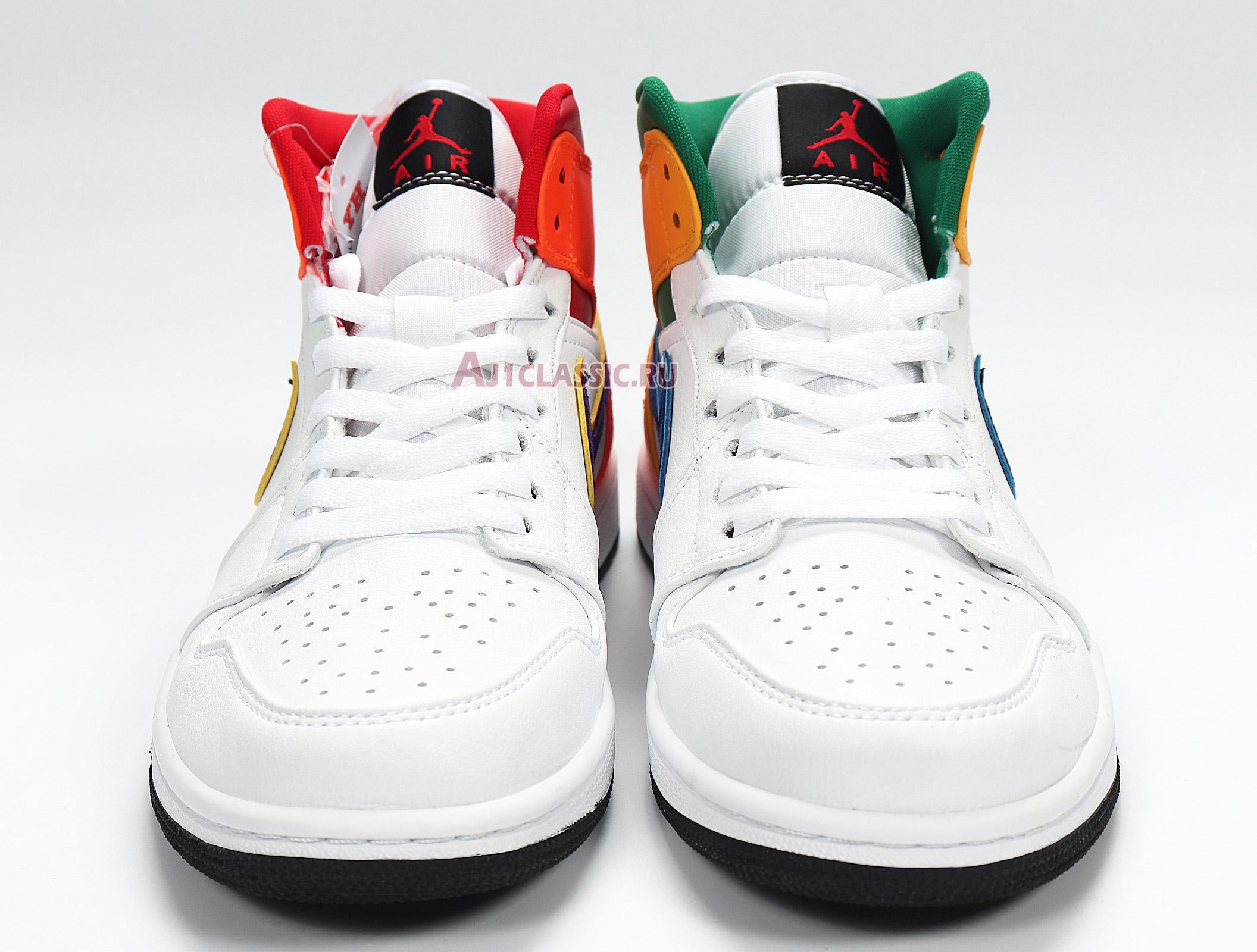 """Air Jordan 1 Mid """"White Court Purple Teal"""" 554725-128"""