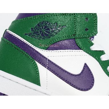 Air Jordan 1 Mid Hulk 554724-300 Aloe Verde/Court Purple/White Sneakers