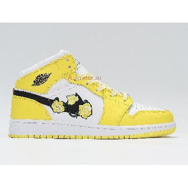 Air Jordan 1 Mid SE Rose Patch - Dynamic Yellow AV5174-700 Dynamic Yellow/Black/White Sneakers
