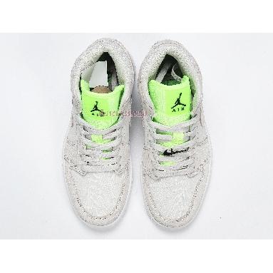 Air Jordan 1 Mid Ghost Green CV3018-001 Vast Grey/Ghost Green/White Sneakers