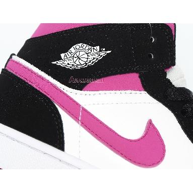 Air Jordan 1 Mid Cactus Flower BQ6472-005 Black/Cactus Flower/White Sneakers