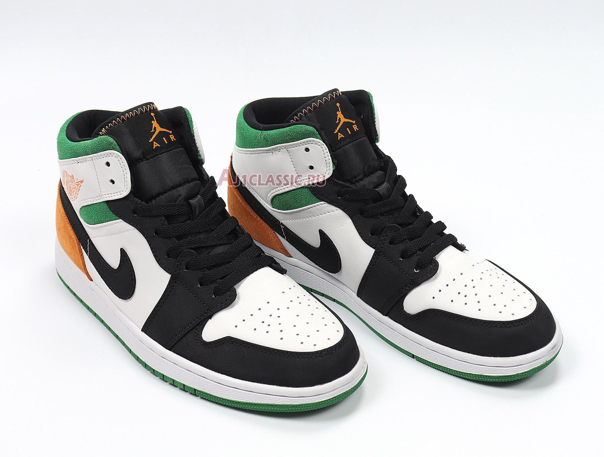 "Air Jordan 1 Mid ""Lucky Green Laser Orange"" BQ6931-101"