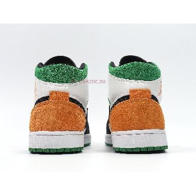 Air Jordan 1 Mid Lucky Green Laser Orange BQ6931-101 White/Laser Orange-Black-Lucky Green Sneakers