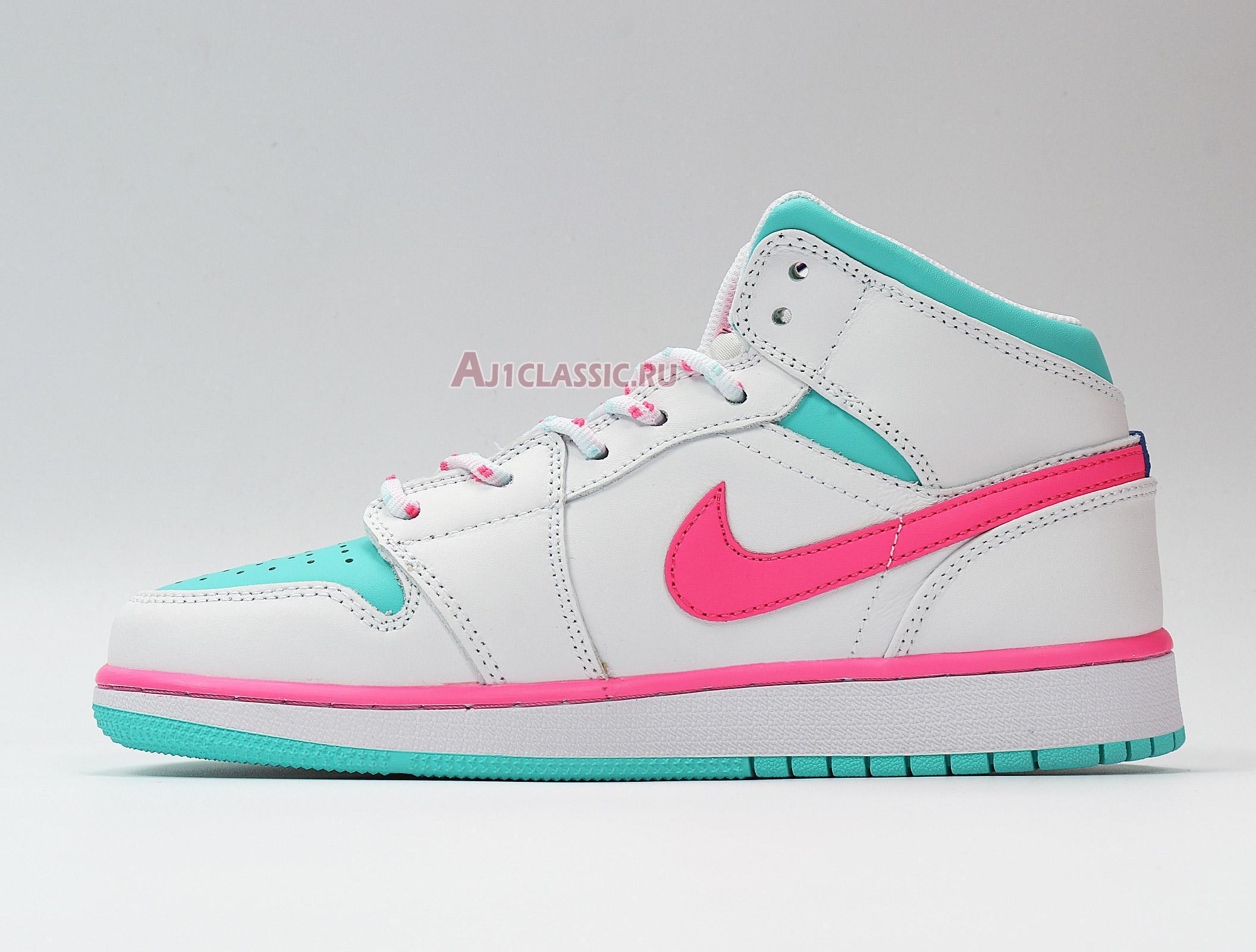 "Air Jordan 1 Mid GS ""Digital Pink"" 555112-102"