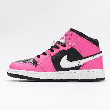 Air Jordan 1 Mid Pinksicle 555112-002 Black/White/Pinksicle Sneakers