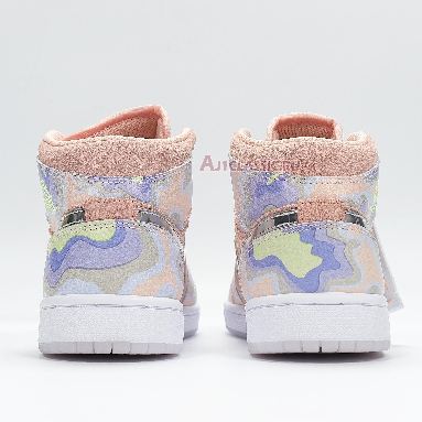 Air Jordan 1 Mid SE P Her Spective CW6008-600 Washed Coral/Chrome-Light Whistle Sneakers