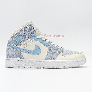 Air Jordan 1 Mid SE Sail Light Blue DA4666-100 Blue/Grey/White Sneakers