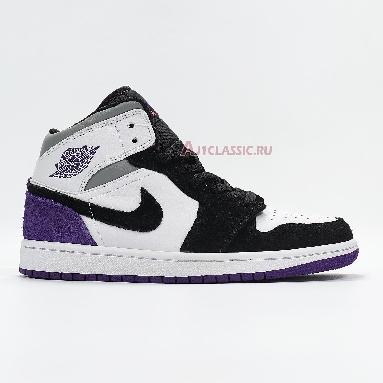 Air Jordan 1 Mid Surfaces With Purple 852542-105 Black/White/Purple Sneakers