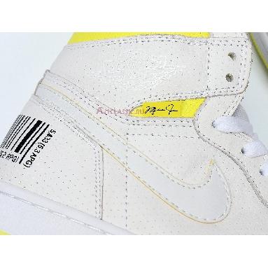 Air Jordan 1 Retro High OG First Class Flight 555088-170 White/Dynamic Yellow-Black Sneakers