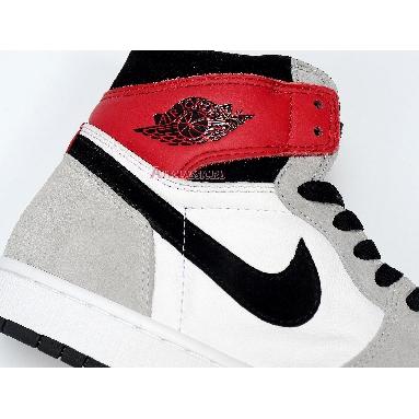 Air Jordan 1 Retro High OG Smoke Grey 555088-126 White/Black/Light Smoke Grey/Varsity Red Sneakers