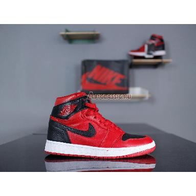 Air Jordan 1 Mid Reverse Banned 554724-601 Red/White Sneakers