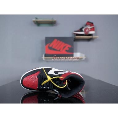 Air Jordan 1 Retro High OG Bred Toe 555088-610 Gym Red/Black-Summit White Sneakers