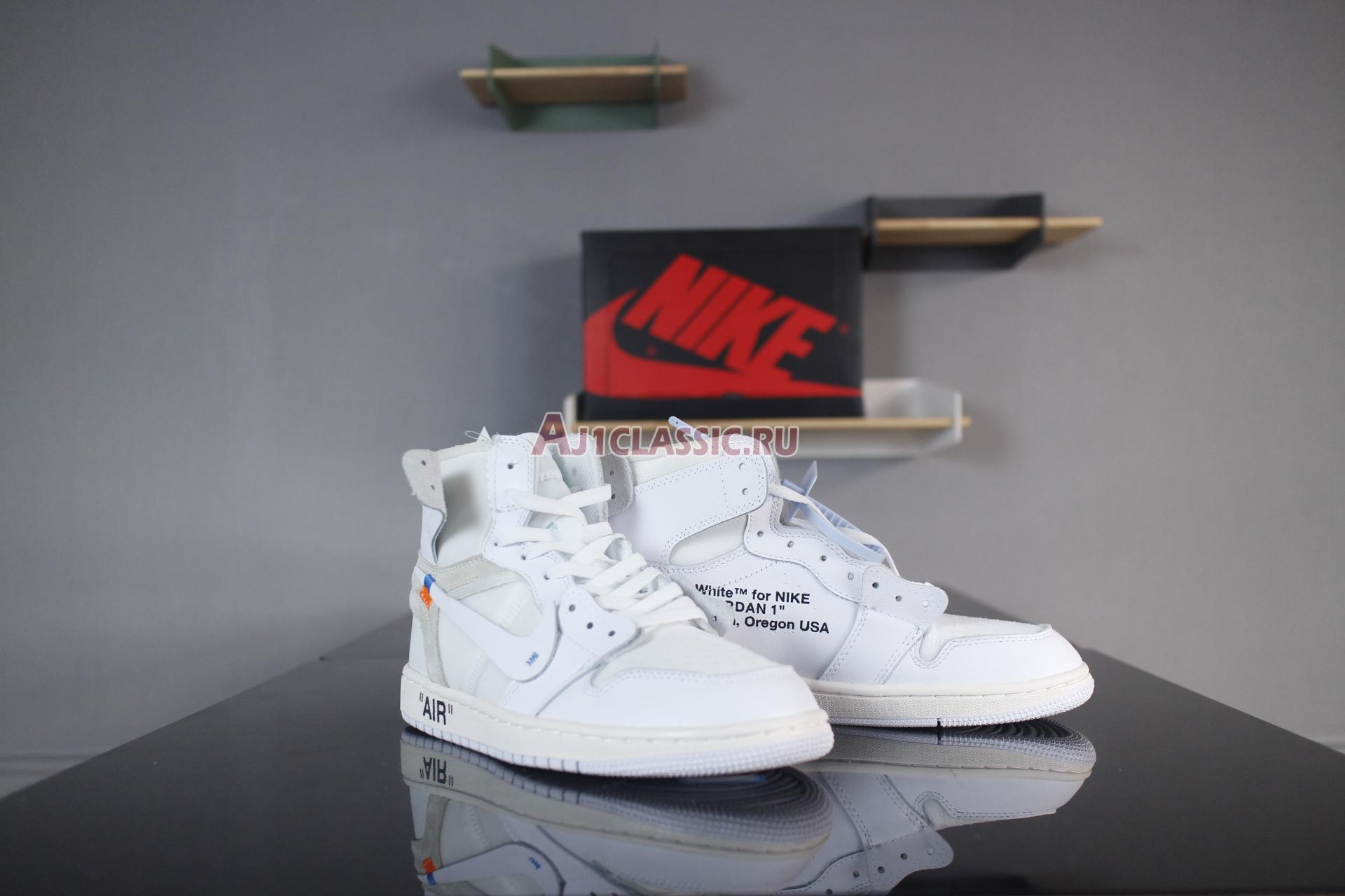 """Off-White x Air Jordan 1 Retro High OG """"White"""" AQ0818-100"""