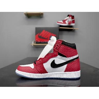 Air Jordan 1 Retro High OG Origin Story 555088-602 Gym Red/White-Photo Blue-Black Sneakers