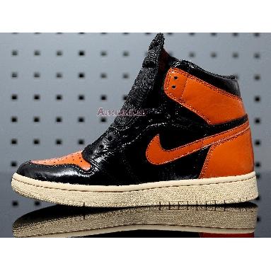 Air Jordan 1 Retro High OG Shattered Backboard 3.0 555088-028 Black/Pale Vanilla-Starfish Sneakers