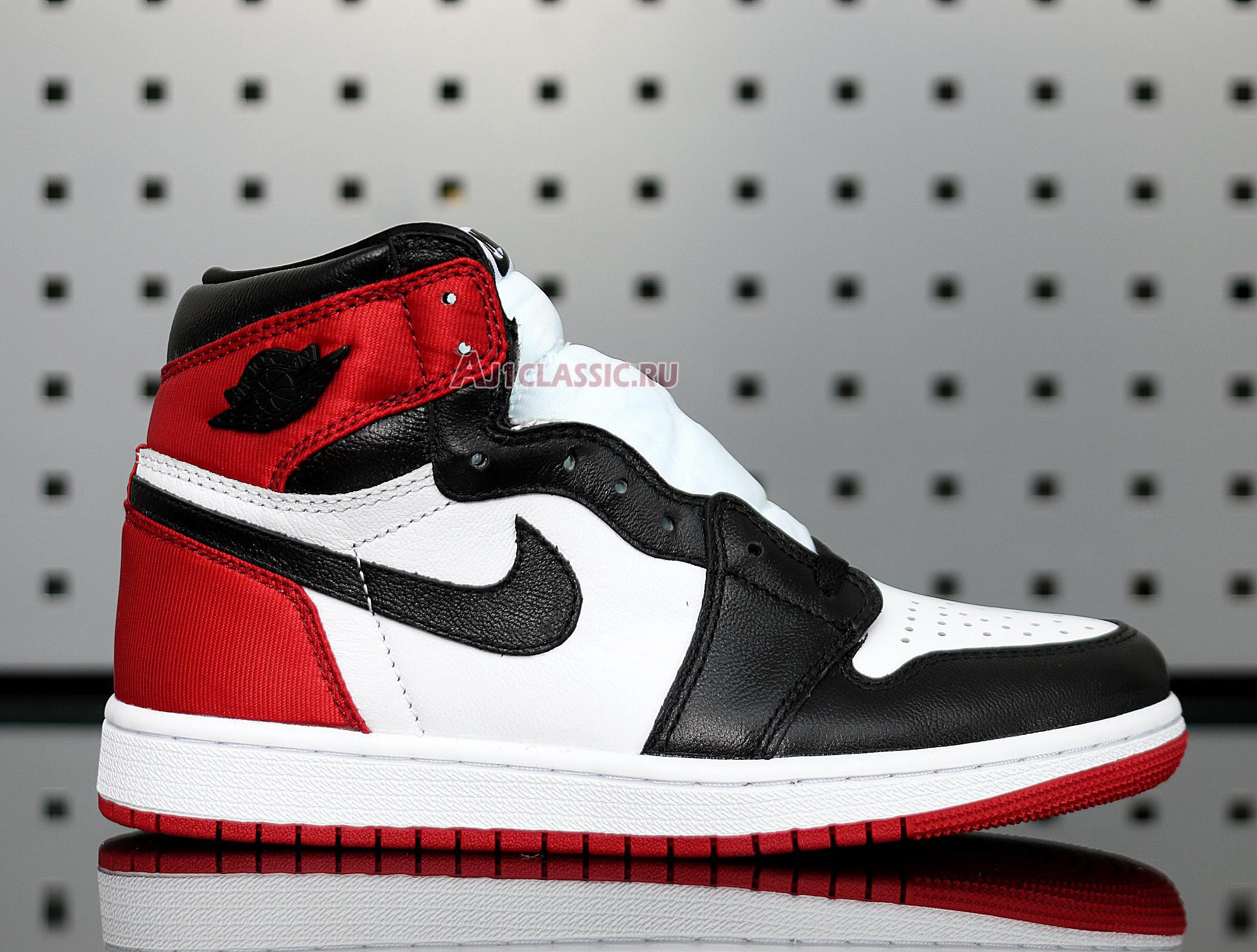 "Air Jordan 1 Retro High ""Satin Black Toe"" CD0461-016"