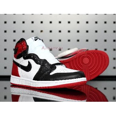 Air Jordan 1 Retro High Satin Black Toe CD0461-016 Black/White-Varsity Red Sneakers