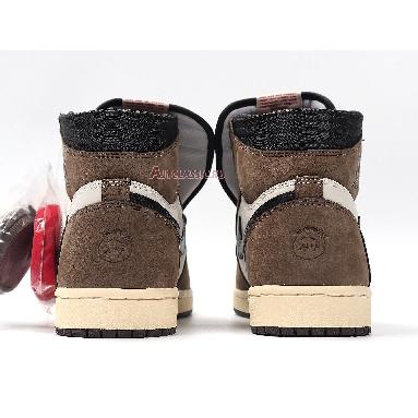 Travis Scott x Air Jordan 1 Retro High OG Mocha CD4487-100 Sail/Black-Dark Mocha-University Red Sneakers