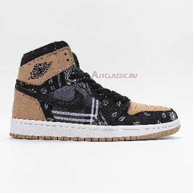 Travis Scott x Air Jordan 1 High OG Jackboys CK5088-001 Black/Parachute Beige-Petra Brown-Black Sneakers