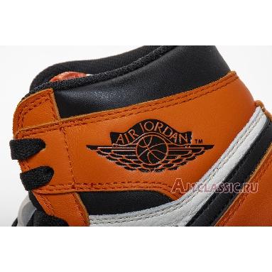 Air Jordan 1 Retro High OG Shattered Backboard Away 555088-113 Sail/Black-Starfish Sneakers