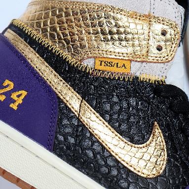 Union x Air Jordan 1 High Kobe Mamba 555088-171 Purple/Gold/Black/Grey Sneakers