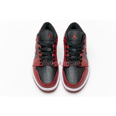 Air Jordan 1 Low Reverse Bred 553558-606 Black/Black/Gym Red Sneakers