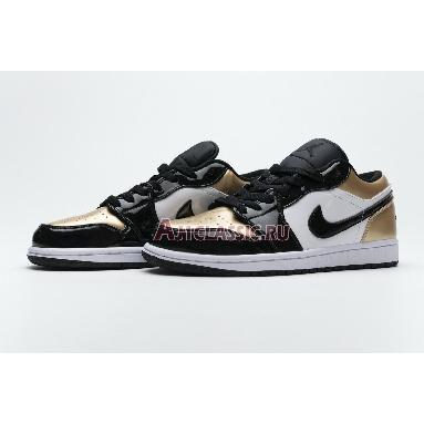 Air Jordan 1 Low Gold Toe CQ9447-700 Metallic Gold/White-Black Sneakers