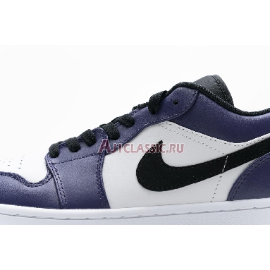 Air Jordan 1 Low Court Purple 553558-500 White/Court Purple/Black Sneakers