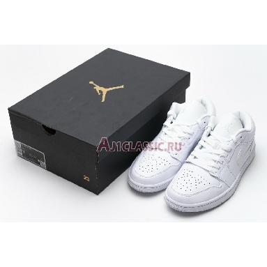 Air Jordan 1 Retro Low White 553558-120 White/Metallic Silver-White Sneakers