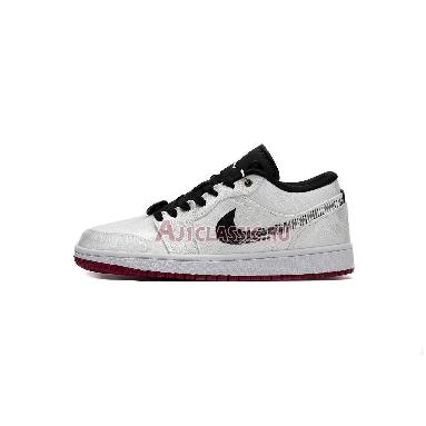 CLOT x Air Jordan 1 Low Fearless CU2804-100_LOW White/Black/White/University Red Sneakers