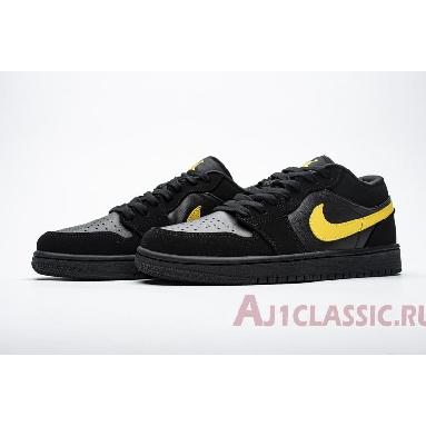 Air Jordan 1 Low Black University Gold 553558-071 Black/University Gold/Black Sneakers