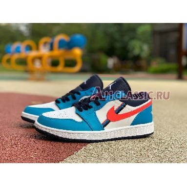 Air Jordan 1 Low Game Time CV4892-100 White/Flash Crimson/Comet Blue Sneakers