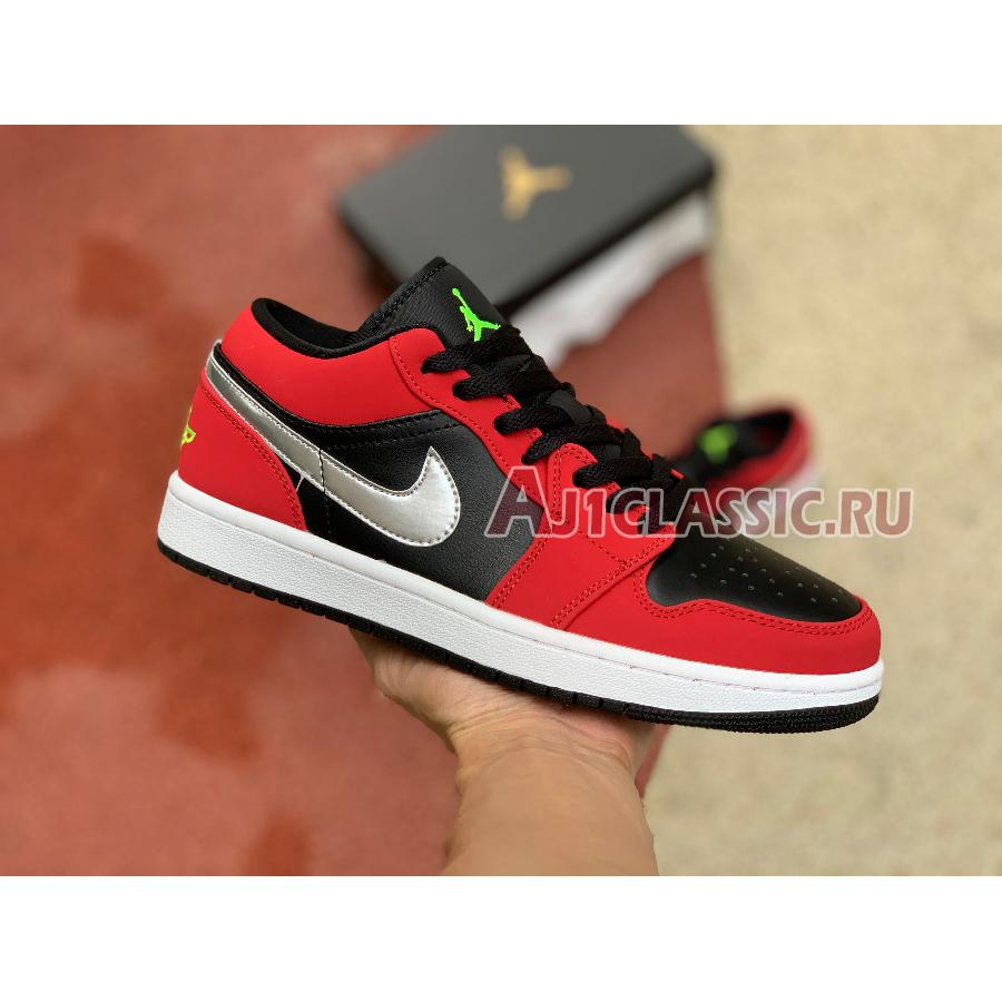 """Air Jordan 1 Low """"Gym Red Green Pulse"""" 553558-036"""
