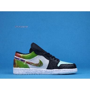 Air Jordan 1 Low Galaxy CW7309-090 White/Black/Multi-Color Sneakers