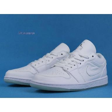 Air Jordan 1 Low Retro White 309192-111 White/White-Metallic Silver Sneakers