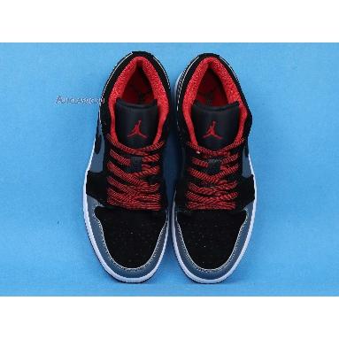 Air Jordan 1 Retro Low Dark Grey Black 553558-002 Black/Gym Red-Dark Grey Sneakers