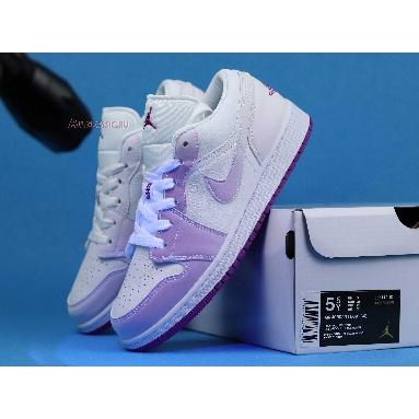 Air Jordan 1 Low SE Court Purple Discoloration 555112-ID White/Purple Sneakers