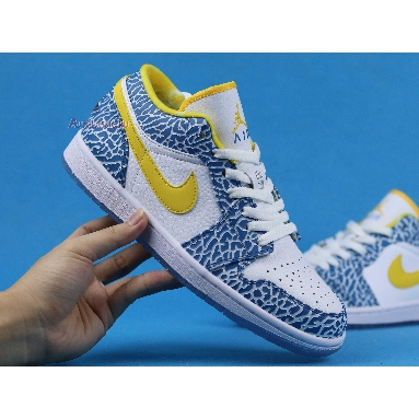 Air Jordan 1 Retro Low West Coast 309192-172 White/Varsity Maize-University Blue Sneakers