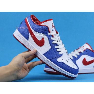 Air Jordan 1 Retro Low East Side 309192-161 White/Varsity Red-Varsity Royal Sneakers