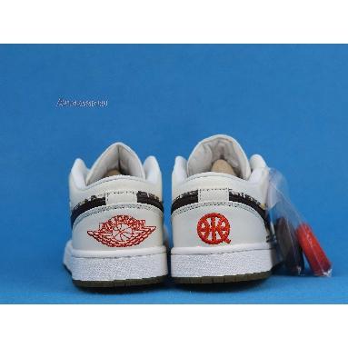 Air Jordan 1 Low Quai 54 CZ4155-100 Sail/Team Orange/Baroque Brown Sneakers