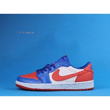 Air Jordan 1 Low West Coast Blue Orange CW0858-200 Sail/Orange/Mocha Blue Sneakers