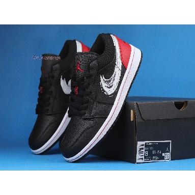 Air Jordan 1 Low Brushstroke Swoosh - Black Red DA4659-001 Brushstroke Swoosh - Black Red Sneakers
