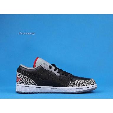 Air Jordan 1 Phat Low Black Cement 350571-061 Black/Varsity Red-White-Cement Grey Sneakers