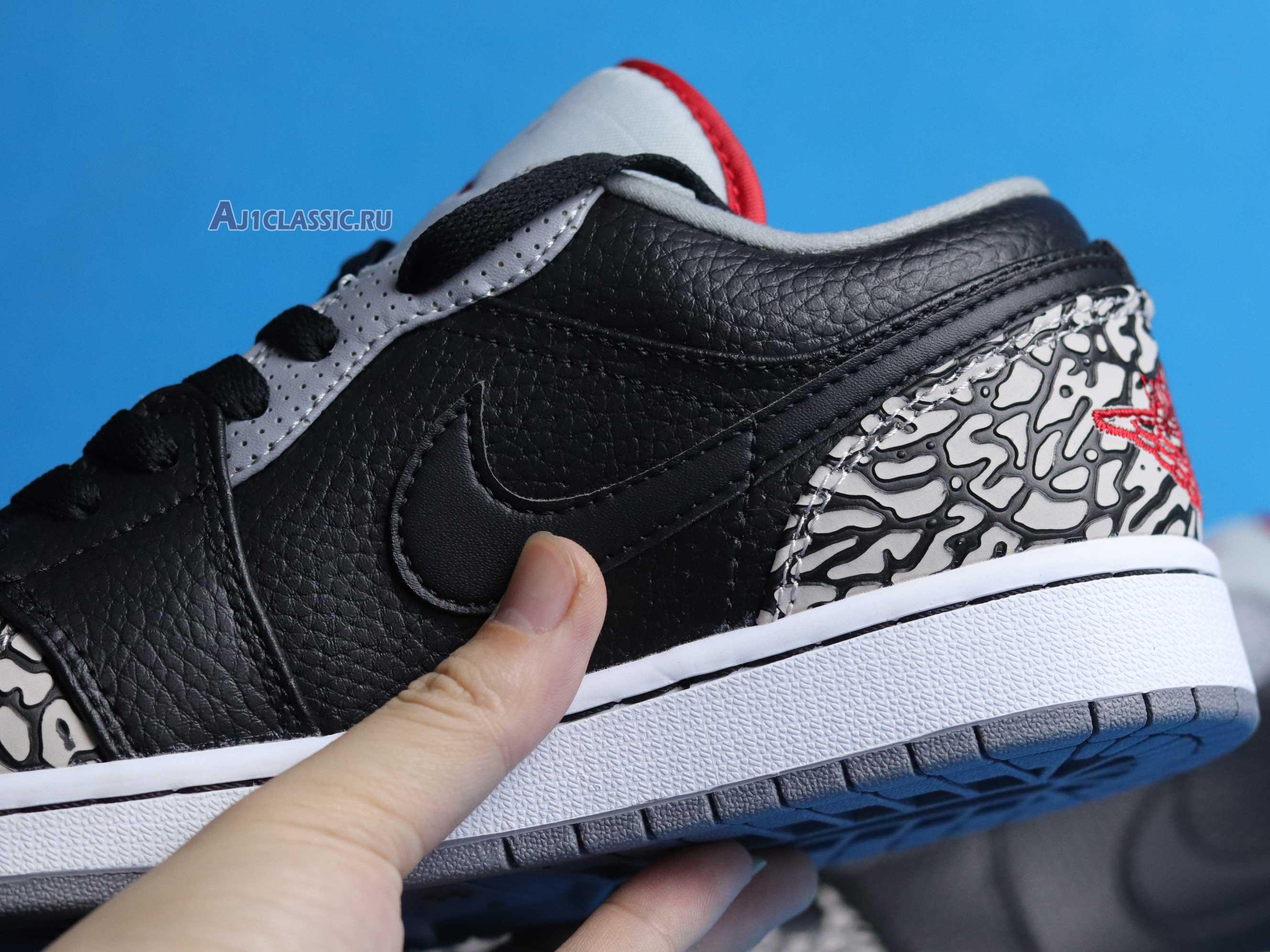 """Air Jordan 1 Phat Low """"Black Cement"""" 350571-061"""